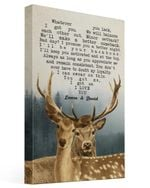 I Promise You A Better Night Deer Custom Name Husband Gift For Wife Laura And David Matte Canvas
