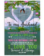 Wife Gift For Husband Swans The Day I Met You Vertical Poster