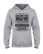 The Day I Met My Awesome Wife My Missing Piece Gift For Wife Hoodie