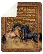 Horse I'll Love You Then Gift For Lover Fleece Blanket Sherpa Blanket