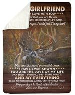 Deer Gift For Girlfriend You Are The Love Of My Life Fleece Blanket Sherpa Blanket