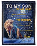 Mom Gift For Son I'll Step Out Of The Shadows And Protect What's Mine Fleece Blanket Sherpa Blanket