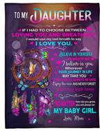 Dreamcatcher Gift For Daughter You Will Always Be My Baby Girls Fleece Blanket Sherpa Blanket