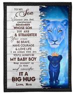 Mom Gift For Son You'll Always Be My Baby Boy Fleece Blanket Fleece Blanket