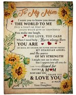 Sunflowers Gift For Mom You Are My Anchor Fleece Blanket Sherpa Blanket
