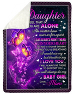 Always Be There To Support You Galaxy Fleece Blanket Mom Gift For Daughter Sherpa Blanket