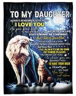 Dad Gift For Daughter You Are Not Alone Fleece Blanket Sherpa Blanket