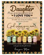 Hummingbird Sunflower As You Grow Older Fleece Blanket Mom Gift For Daughter Fleece Blanket