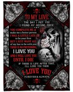 Sugar Skull Want All Of My Last To Be With You Gift For Darling Fleece Blanket