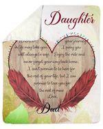 Wherever Your Journey In Life Feather Fleece Blanket Dad Gift For Daughter Sherpa Blanket