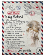 You're The Love Of My Life Wife Gift For Husband Fleece Blanket Sherpa Blanket