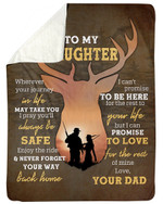 Your Journey In Life May Take You Dad Gift For Daughter Sherpa Blanket