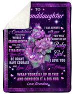 I Am Always With You Grandma Gift For Granddaughter Fleece Blanket Sherpa Blanket