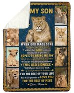 Lion Picture Frames Mom Gift For Son Love You For The Rest Of Mine Fleece Blanket Sherpa Blanket