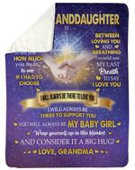 Best Gift For Graddaughter I'll Always Be There To Support You Sherpa Blanket
