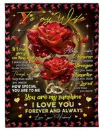 Special Gift For Wife You Are My Sunshine Fleece Blanket Fleece Blanket
