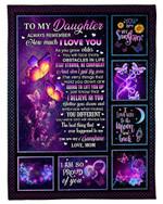 Purple You Are My Sunshine Mom Gift For Daughter Fleece Blanket Fleece Blanket