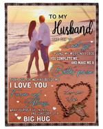 On Beach Gift For Husband I Love You Always Fleece Blanket Sherpa Blanket