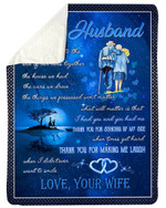 Thanks For Making Me Laugh Wife Gift For Husband Sherpa Blanket