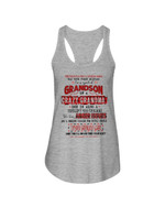 Gift For Grandson I'm A Spoiled Grandson Of A Crazy Grandma Ladies Flowy Tank