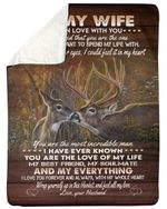 The One I Want To Spend My Life With Deer Fleece Blanket Gift For Wife Sherpa Blanket