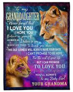 This Old Lioness Will Always Have Your Back Grandma Gift For Granddaughter Fleece Blanket Sherpa Blanket