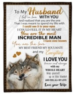 You Are The Love Wife Gift For Husband Wolf Fleece Blanket Sherpa Blanket