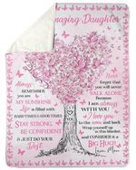 I Am Always With You Pink Heart Tree Fleece Blanket Mama Gift For Daughter Sherpa Blanket