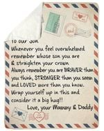 Always Remember Love Letter Mammy And Daddy Fleece Blanket Gift For Son Sherpa Blanket