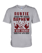 Auntie And Nephew Best Friends For Life Gift For Family Guys V-Neck