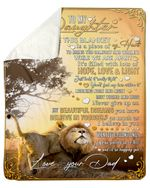 A Big Piece Of My Heart Wild Lion Fleece Blanket Dad Gift For Daughter Sherpa Blanket