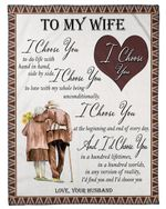 The Old Side By Side Fleece Blanket Gift For Wife Fleece Blanket