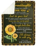 I Love You As You Grow Older Gift For Granddaughter Sherpa Blanket