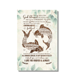 Fish Couple I Love You Forever And Always Gift For Wife Matte Canvas