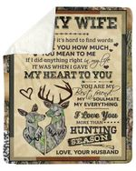 How Much You Mean To Me Deer Fleece Blanket Gift For Wife Sherpa Blanket