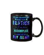 Grandpa Gift For Grandchild I Am His Accimplice He Is My Alibi Mug