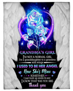Magical Rose Gift For Angel Grandma I Know That Was You Are Fleece Blanket
