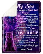 Best Gift For Son Whenever You Feel Overwhelmed Sherpa Blanket
