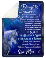 If Your Path Demands You Walk Through Hell Wolf Fleece Blanket Mama Gift For Daughter Sherpa Blanket