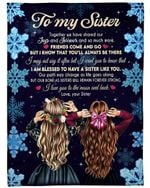 Gift For Sister I Love You To The Moon And Back Fleece Blanket Fleece Blanket