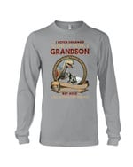 T Rex Grandson Of A Freaking Awesome Grandma Gift For Family Unisex Long Sleeve