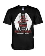 White Angel Wing Gift For Angel Grandpa My Angel Grandpa I Used Guys V-Neck
