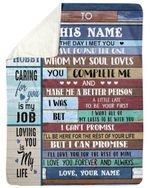 Caring For You Is My Job Fleece Blanket Gift For Lovers Sherpa Blanket