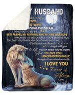 I Take You To Be My Faithful Wife Gift For Husband Fleece Blanket Sherpa Blanket
