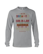 Son In Law Of Freaking Awesome Mother In Law Vintage Gift For Family Unisex Long Sleeve