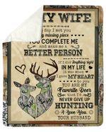 The Day I Met You Go Hunting Fleece Blanket Gift For Wife Sherpa Blanket