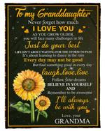 I Love You As You Grow Older Gift For Granddaughter Fleece Blanket
