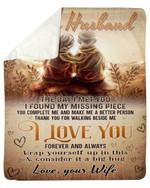 Side By Side Wife Gift For Husband I Love You Forever Fleece Blanket Sherpa Blanket