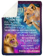 Lion Grandma Gift For Graddaughter This Old Lioness Will Always Have Your Back Sherpa Blanket