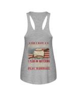Gift For Grandpa Baseball USA Flag I Have A Retirement Plan Ladies Flowy Tank